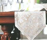 Fine Linen Damask Bistro Collection